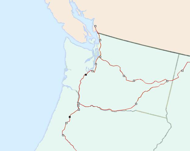 Amtrak Status Maps - Northwest on amtrak train map, amtrak track map, amtrak train routes, amtrak train schedules fares, amtrak on time performance, amtrak missouri map, amtrak route map of west side new york city,